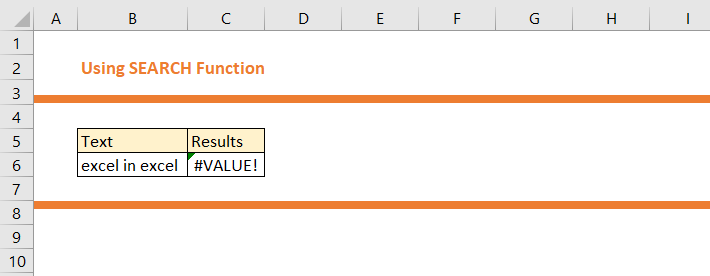 How to use SEARCH Function in Excel 9