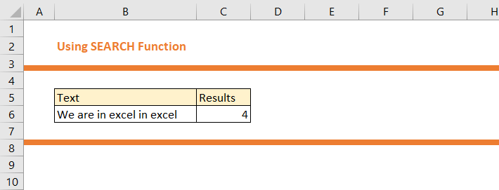 How to use SEARCH Function in Excel 15