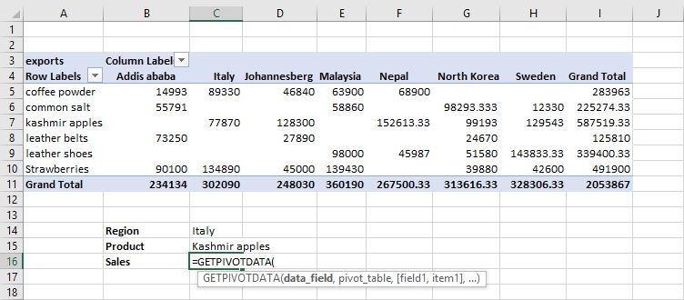 How to use the Get Pivot Data? 1