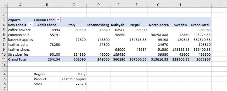 How to use the Get Pivot Data? 3