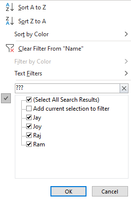 How to Filter Data by Text Wildcards 6