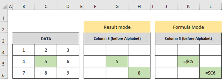 Cell References in MS Excel 1