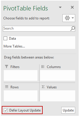 Defer Layout Update in Pivot Table 2
