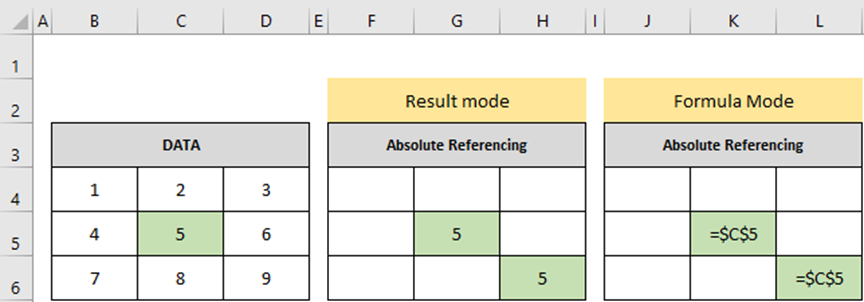 Cell References in MS Excel