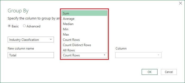 GroupBy in PowerQuery 3